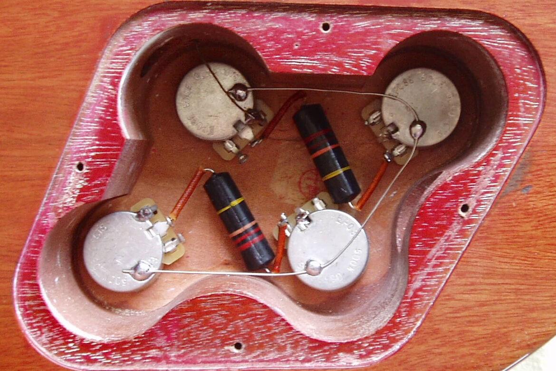 Les Paul bedrading/elektronica