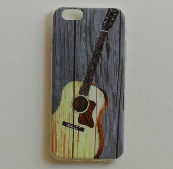 Telefoonhoesje voor Iphone 6en6s met akoustische gitaar opdruk