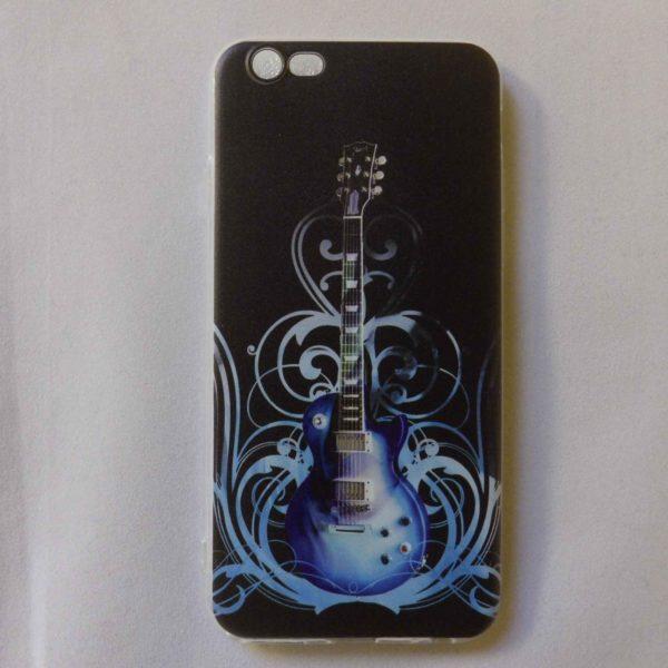 Iphone cover voor 6 en 6s voorzien van blauwe Gibson Les Paul