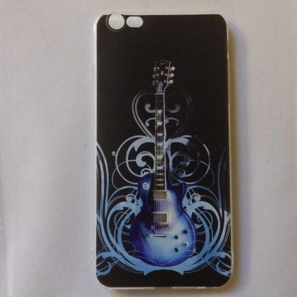 Gsm hoesje cover voor Iphone 6s plus met blauwe Gibson Les paul