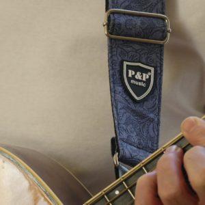 Hippe blauwe designer gitaarband gadget voor gitaar en muziek cadeau