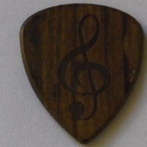 Plectrum hout met G-sleutel