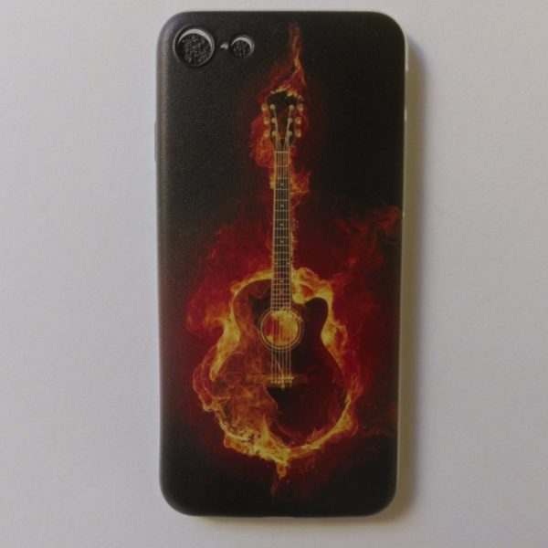 cover voor Iphone 7 en 8 met prachtige gitaaropdruk