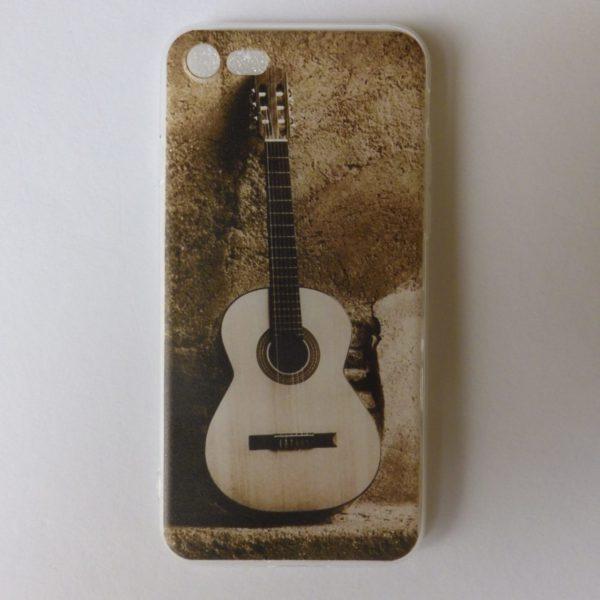 Telefoonhoesje Iphone 7 en 8 met acoustische gitaaropdruk