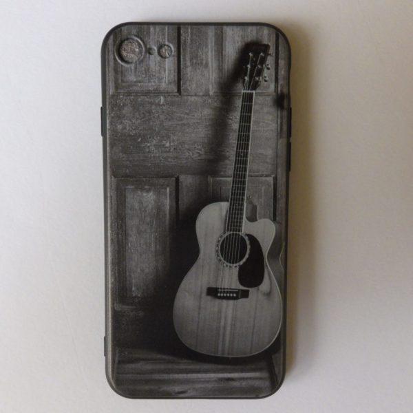 Telefoonhoesje voor Iphone X met mooie acoustische gitaar