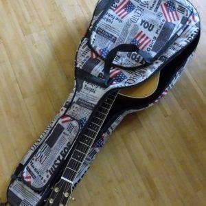 Gitaar tas voor electrisch, acoustische gitaren en klassieke gitaren met stoere USA print