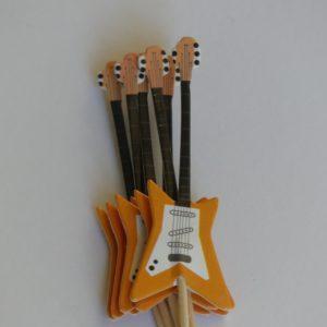 Prikkers in gitaar vorm gadgets voor gitaar en muziek cadeau