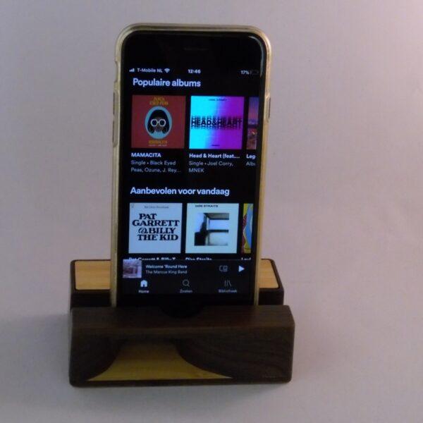 Houten klankkast voor GSM