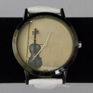 Horloge viool met witte band