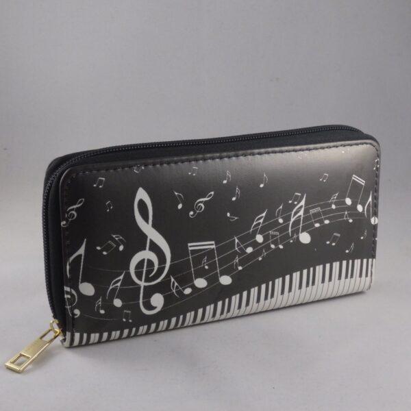 portemonnee met piano motief