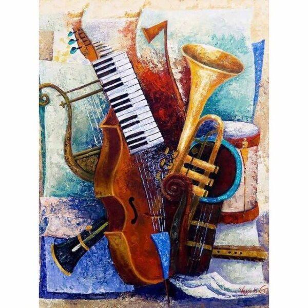 diamond painting muziekinstrumenten