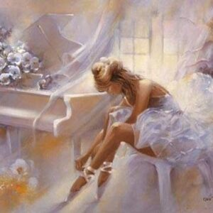 diamond painting piano danseres