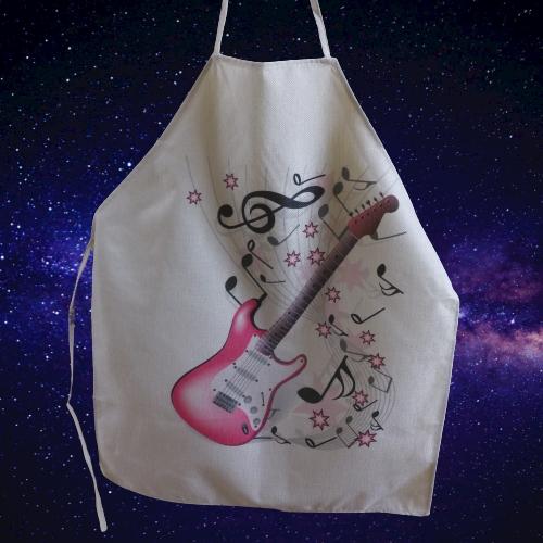 Keukenschort met muziekprint