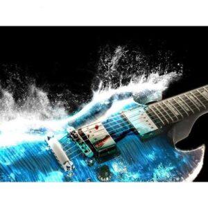 diamond painting gitaar blauw