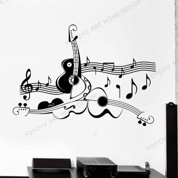 muursticker gitaar
