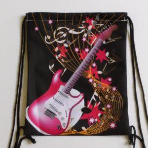 rugtas gitaar roze