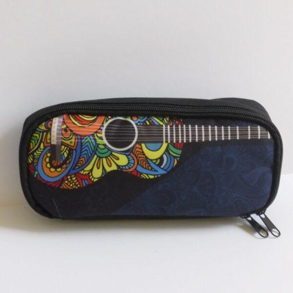 schooletui gitaar blauw